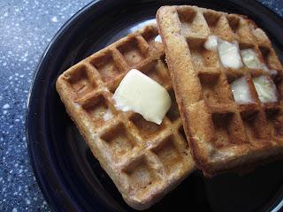 Hearty Oatmeal Cinnamon Waffles: BrownThumbMama.com