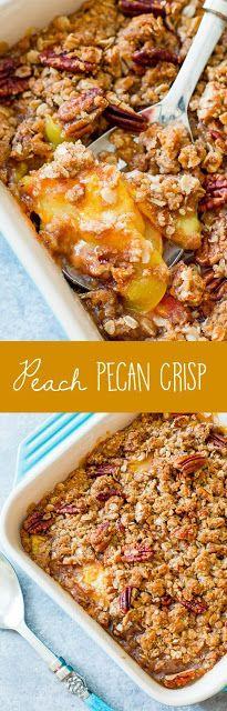 Peach Pecan Crisp