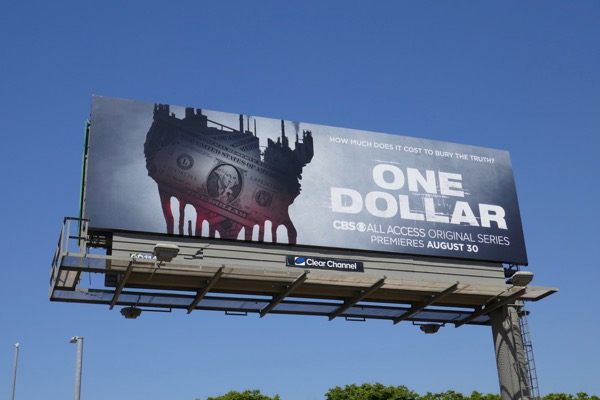 One Dollar TV billboard