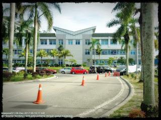kami menapak ke Hospital Serdang, mendaki bukit