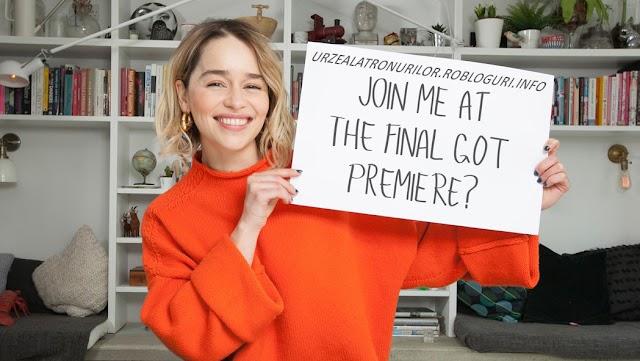 Un mesaj special din sprâncenele actriței Emilia Clarke