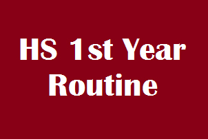 HS first year routine