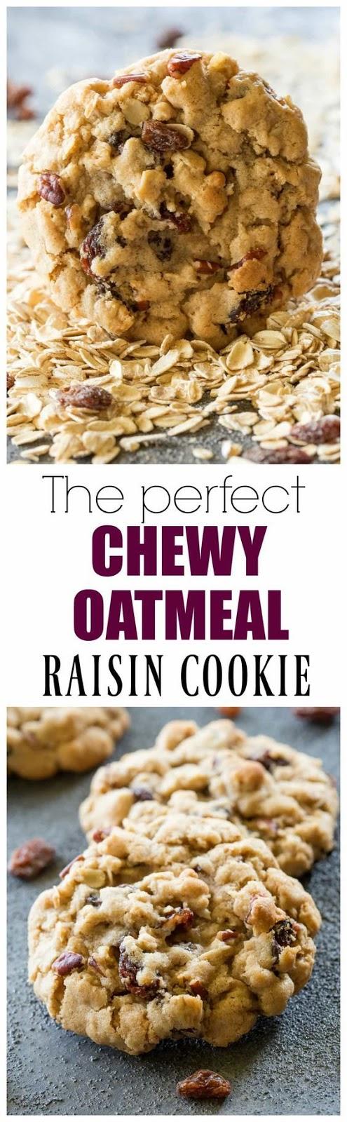 Chewy Oatmeal Raisin Cookie