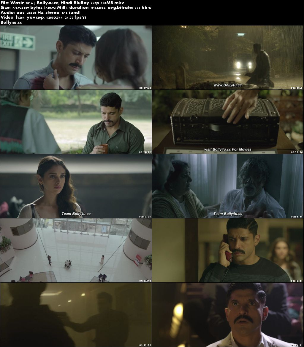 Wazir 2016 BluRay 300Mb Full Hindi Movie Download 480p