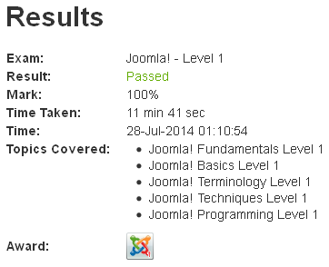 freelancer exams Joomla Level 1 Fundamentals Basics Terminology Programming