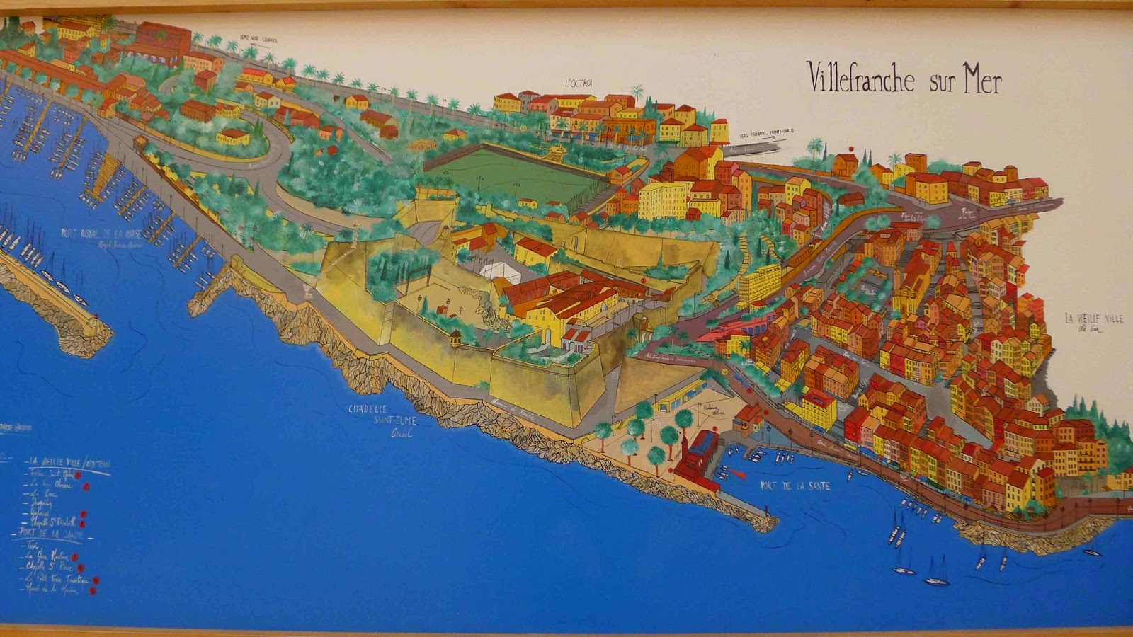 Map of Villefranche sur Mer