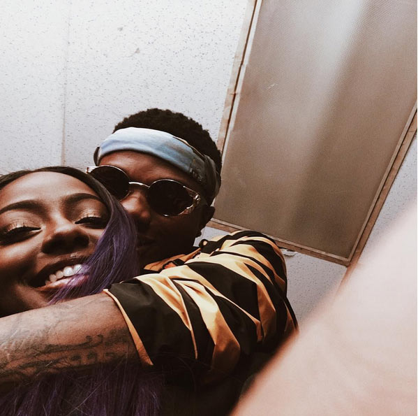 Wizkid shares loved-up picture with girlfriend Justine Skye