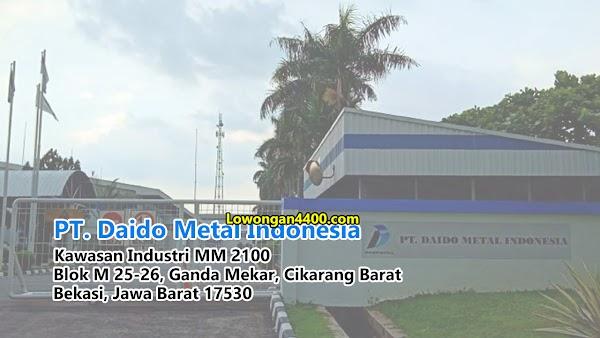 Lowongan Kerja PT Daido Metal Indonesia 2019
