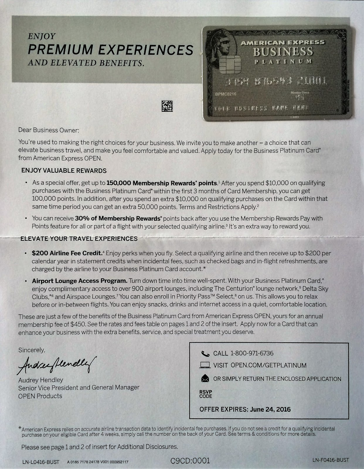 Flying From The Front: AMEX Business Platinum Card 150K sign up bonus!!!