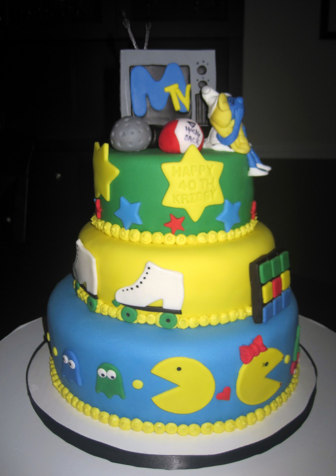 Creative Cakes By Lynn 80 S Themed Birthday Cake