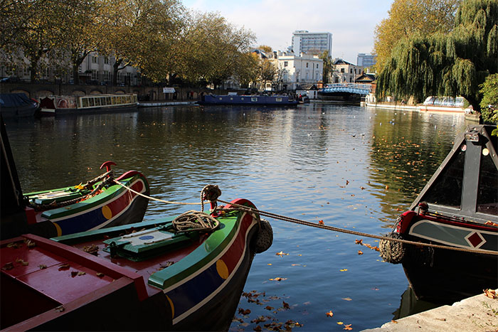 Paddington, Canal, Regent's Canal, London, Little Venise, Grand Union Canal,  houseboat, boat, little boat,