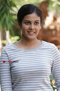 Tamil Actress Chandini Tamilarasan Latest Pos in Ripped Jeansat Ennodu Vilayadu Press Meet  0002.jpg