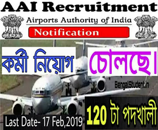AAI Recruitment 2019 - Apply Now For 120 Posts Apprentice (NR)
