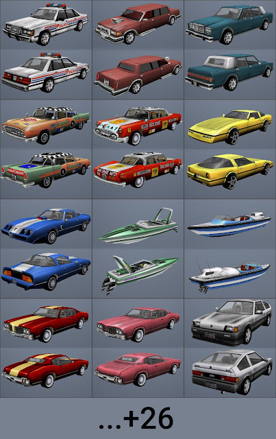 gta vc vice city beta vehicles cars pack mod ALMOST610