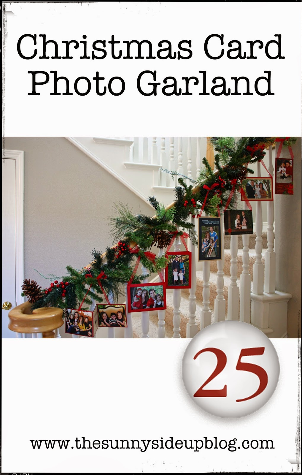 Christmas Card Photo Garland The Sunny Side Up Blog