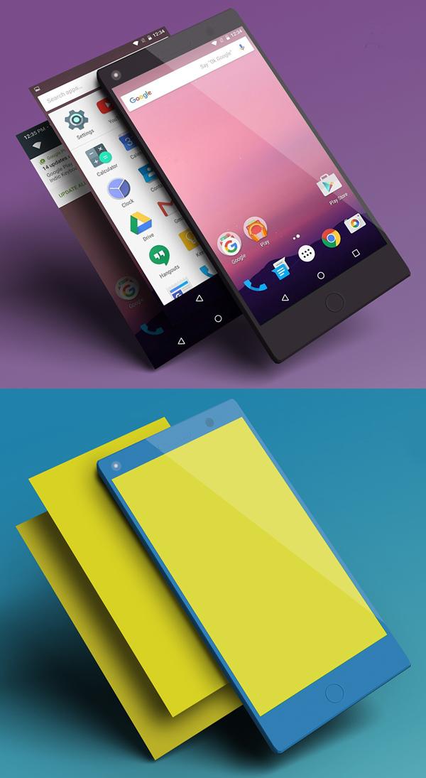 Mockup terbaru 2017 gratis - Free Basic Smartphone Mockup Design