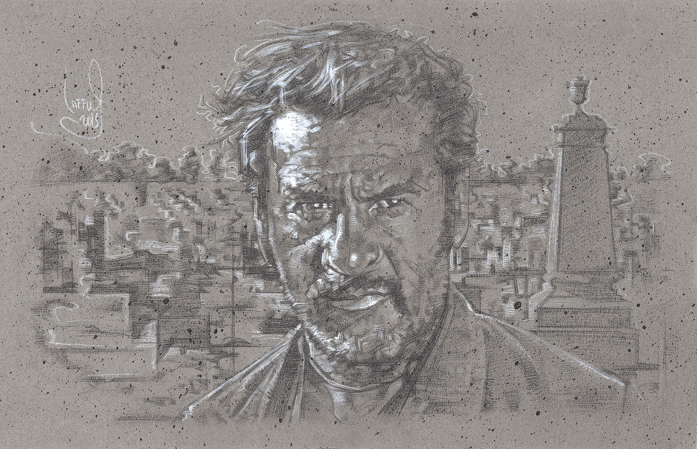 Eli Wallach as Tuco Artwork © JEFF LAFFERTY 2015