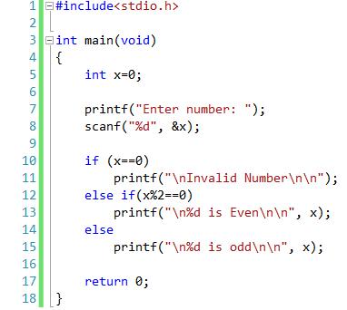 write a c program using if else statement
