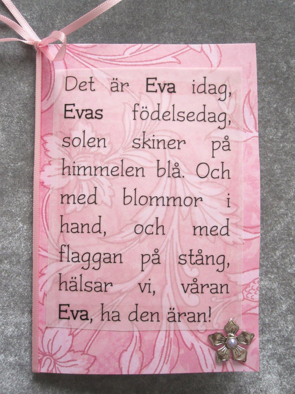 NÄR NÅGON FYLLER ÅR