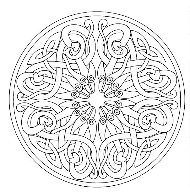 Mandala Made Of An Arabesque Giving Nice Sense Of Movement And Of  Harmony