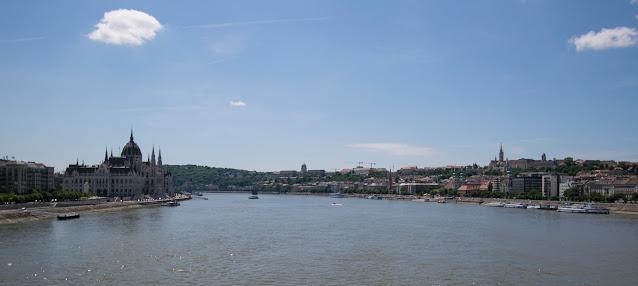 Budapest vista dal ponte dell'Isola Margherita-Budapest