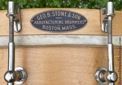 George B. Stone & Son Drum Badge