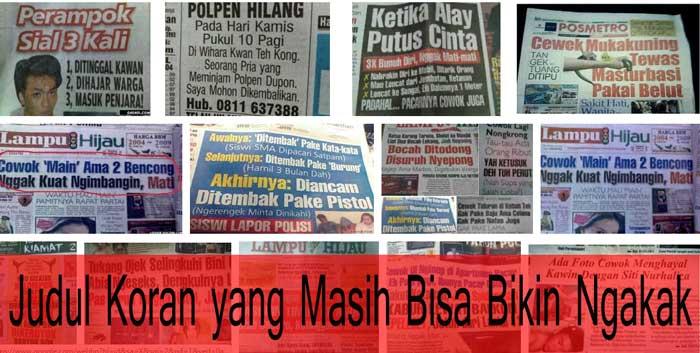 judul koran ngakak