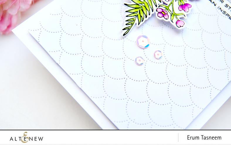 Altenew Focus on You Stamp Set  Focus on You Die Set  Sincere Greetings  Dotted Scales Debossing Die | Erum Tasneem | @pr0digy0