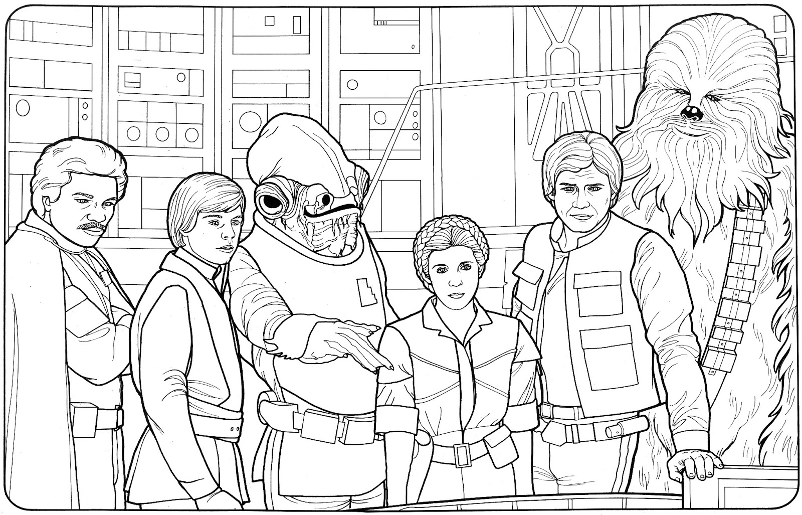 empire strikes back coloring pages - photo#16