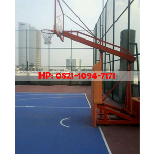 Ring basket portable dapat dilipat sistem pegas