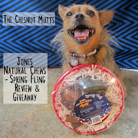 The Chesnut Mutts Jones Natural Chews Spring Fling Review and Giveaway