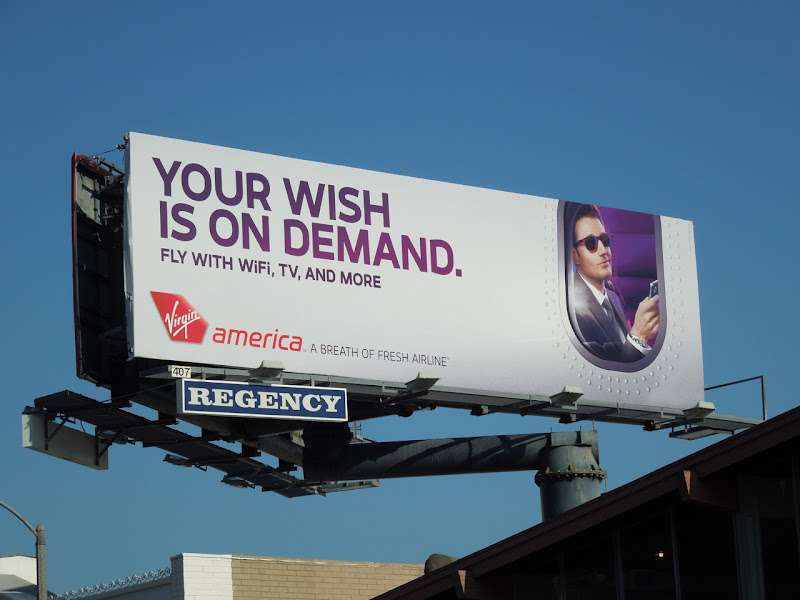 Virgin America wish on demand billboard