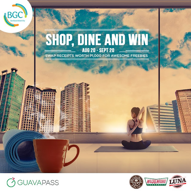Get a GuavaPass gift card or coffee when you shop or dine in BGC