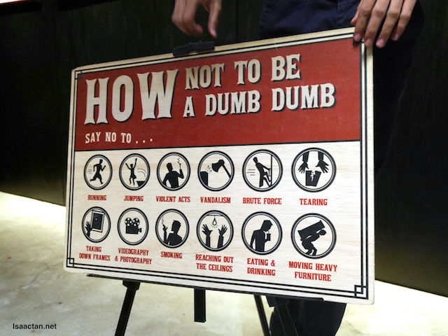 Follow the rules, so as not to be a dumb dumb :)