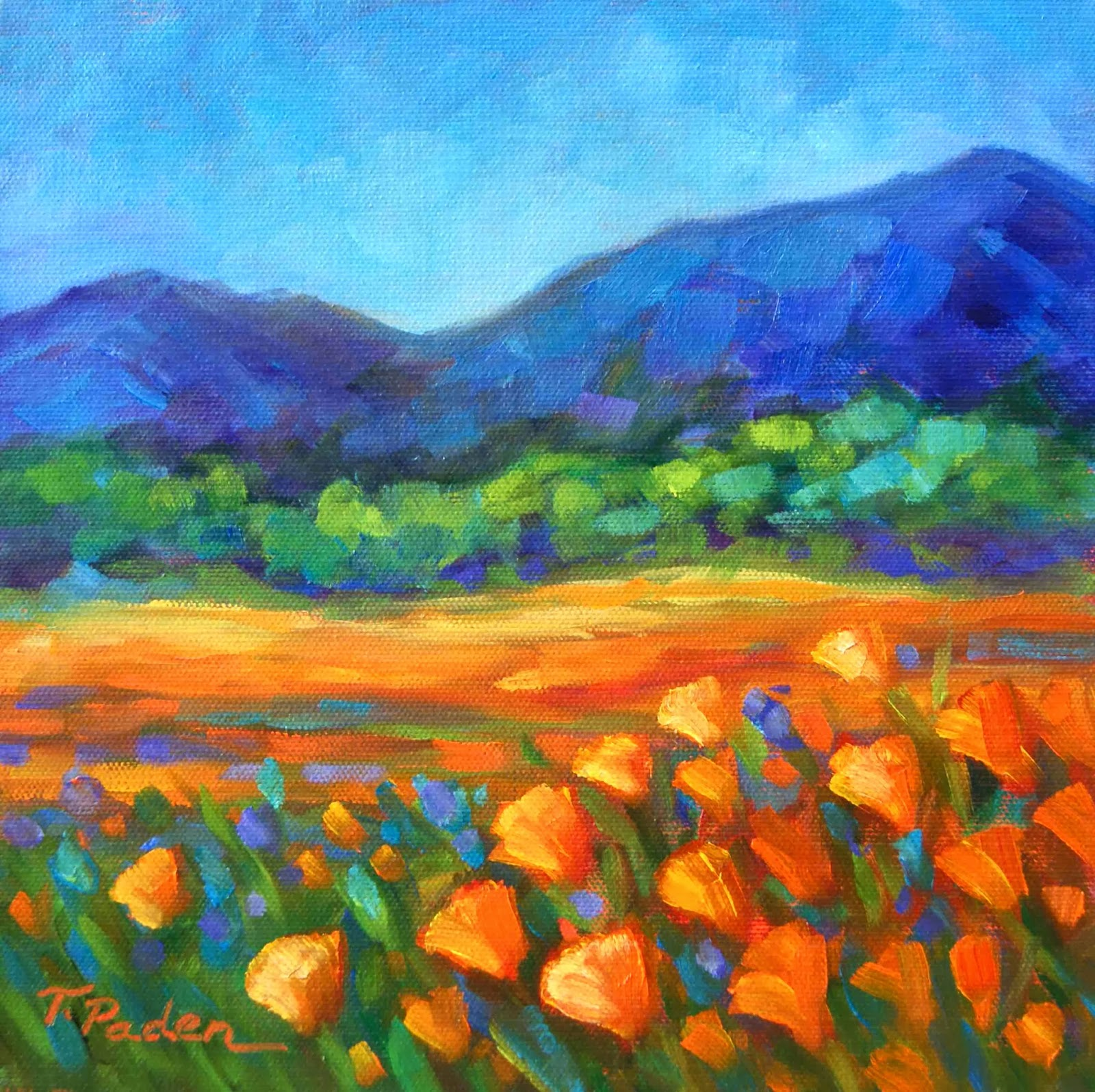 Daily Painters Abstract Gallery Landscape Painting In