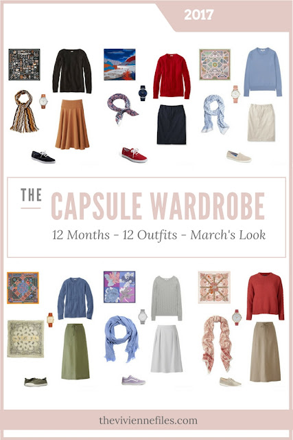 Build a Capsule Wardrobe in 12 Months, 12 Outfits - March 2017