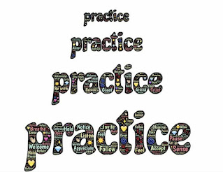 Text suggesting practice exercise