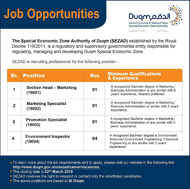 Job vacancies Duqm