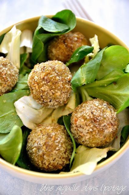 Boulettes végétariennes aux lentilles vertes