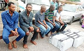 Faces Of Robbers Arrested For Vandalizing MTN Installations