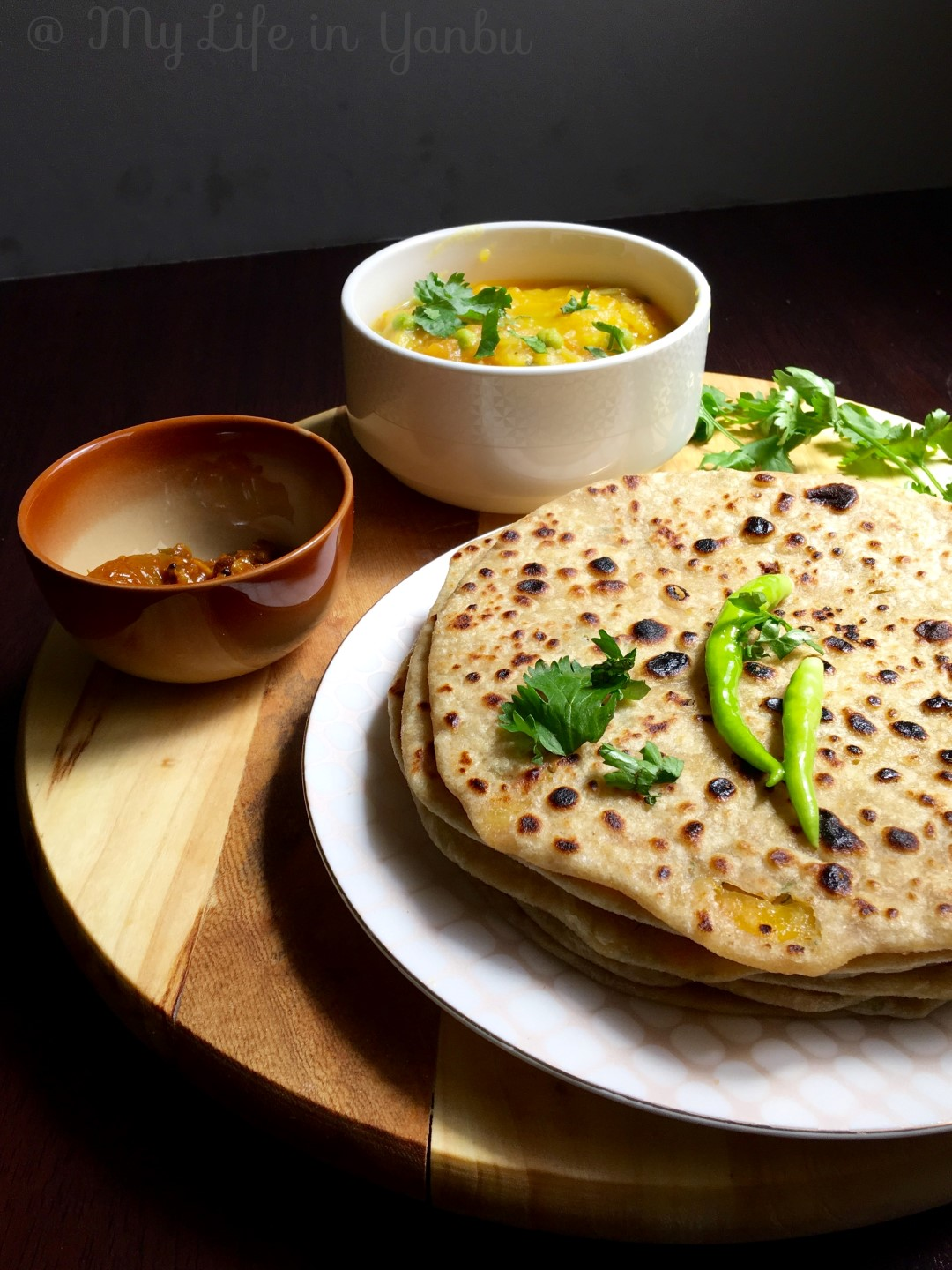Green Papaya Stuffed Flat Bread | Raw Papaya Paratha