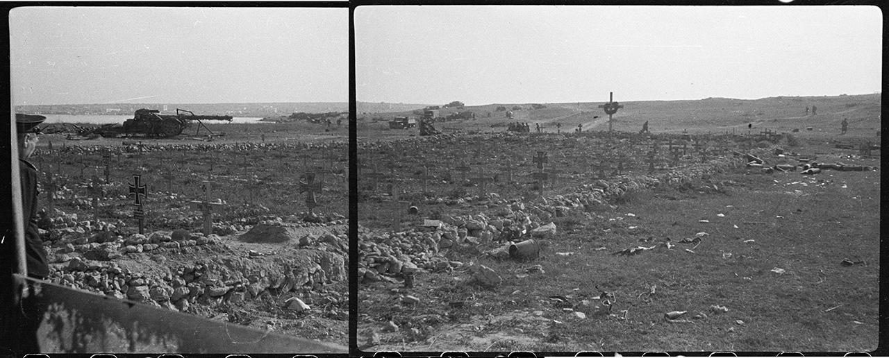 Немецкое кладбище на берегу бухты Казачьей