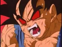 A transformação de Goku em SSJ4