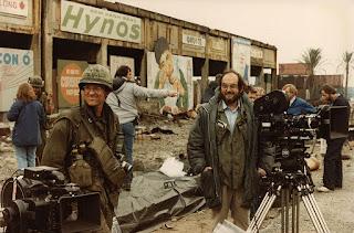 Stanley Kubrick durante el rodaje de La Chaqueta Metálica