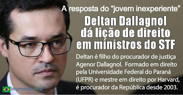 """Resultado de imagem para A resposta de Deltan Dallagnol, o """"jovem inexperiente"""" , às raposas velhas do Supremo"""