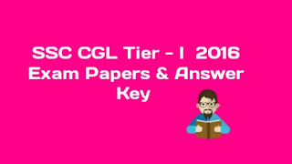SSC CGL 2016 Answer Key PDF
