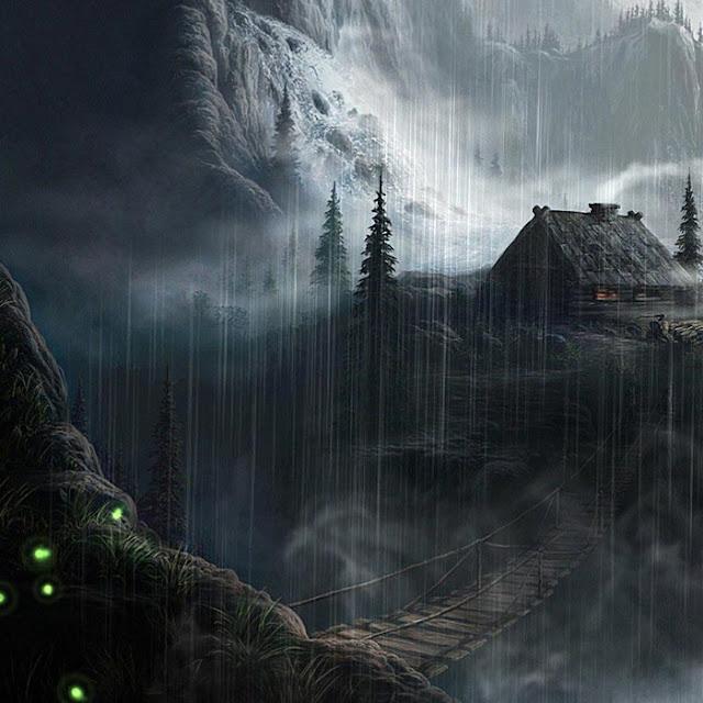 Mountain House Fantasy Wallpaper Engine