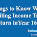 Things to Know Before Filing Income_Tax Return in Year 2016-17