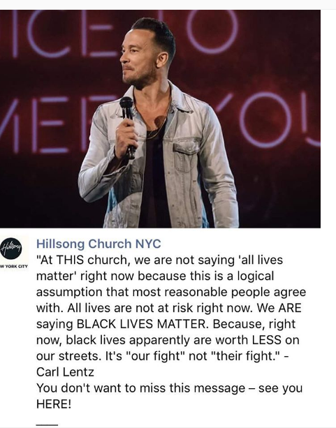 The Old Black Church Why Are White Christians Upset With Hillsong Nyc Pastor Carl Lentz For Supporting Black Lives Matter