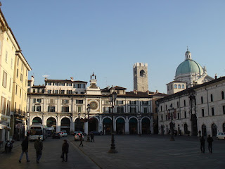 The Piazza della Loggia, with the Torre dell'Orologio, is at the centre of the historic city of Brescia